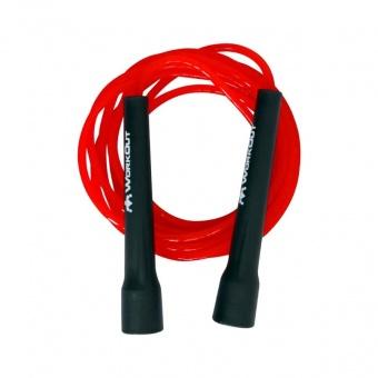 большое фото Скакалка универсальная WORKOUT SU1 черно-красная для тренировок дома и на улице