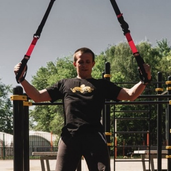 большое фото Петли WORKOUT TRX Suspension Training PRO P3 для тренировок дома и на улице