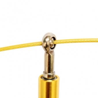 большое фото Скакалка скоростная WORKOUT S3 PRO подарочная золотая для тренировок дома и на улице